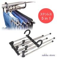 Hanger Trousers rack Stainless/Rak Baju/Jilbab/Syal/Gantungan Celana