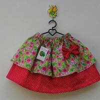 Rok / skirt anak bunga ijo