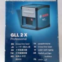 Bosch Cross Line Laser Garis GLL 2X / 2 X + Pod (tripod)  Auto Level