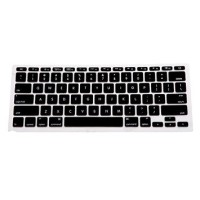 Color Silicone Keyboard Cover Skin for Macbook Air 13 / Pro Black