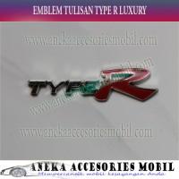 harga Emblem Tulisan Type R Chrome Luxury Datsun Go+ Tokopedia.com