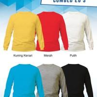 Size XL - Kaos Polos Murah Lengan Panjang Cotton Combed 20s
