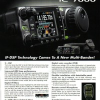 iCom IC-7000 the HF/VHF/UHF All Mode Transceiver