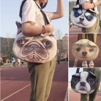 Tas Anjing Tote Bag Karakter Anjing / Tas Bahu Gambar Anjing