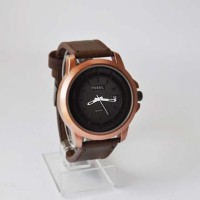 Jam Pria FOSSIL leather strap (date)