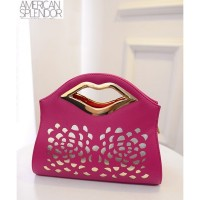 TAS TENTENG FASHION WANITA KOREA IMPORT PINK KOMBINASI ARISAN MALL