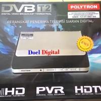 Set Top Box Polytron DVB-T2 + Kabel Loop Out - Baru dan Bergaransi Resmi 1 Tahun Termurah di Tangerang Raya