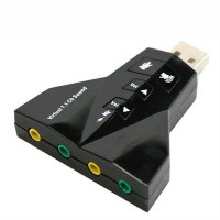 USB 2.0 to Virtual 7.1 Channel Audio 3D Sound Card Adapter