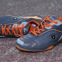 Sepatu Badminton KETA 113 Grey Orange