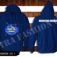 Baju Jaket Sweater Hoodie Biru Mancing Mania