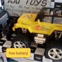 RC miniatur jeep wrangler skala 1:24 free battery