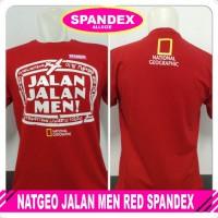 Kaos NatGeo Jalan Men Red