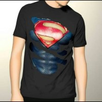 harga Kaos 3d-superman Sixpack Hitam Tokopedia.com