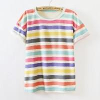 Kaos Baju Fashion Wanita Shirt Kemeja Blouse Atasan Korea New 2015234