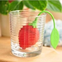 Tea Infuser Pencelup Saringan Teh Unik Model Strawberry Stroberi 057