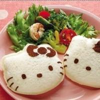 Jual Cetakan Pencetak Roti Isi Sandwich Bento Karakter Lucu Hello Kitty 001 Murah