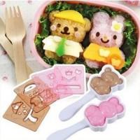 Jual Cetakan Pencetak Nasi Rice Nori Bento Mold Beruang Kelinci Set 037 Murah