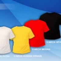 (Size XXXL) - Grosir Kaos Polos V-neck Murah Cotton Combed 20s