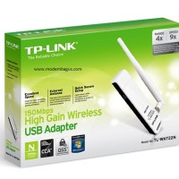 USB Wireless Wifi N Adapter TP-LINK TL-WN722N with Antenna Removable