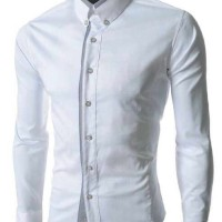 pakaian atasan kemeja pria lengan panjang (hem white list)