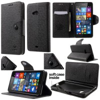 Jual Mlt Leather Flip Case Cover Sarung Kulit Microsoft Lumia 535