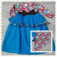 Baju Muslim Bayi Gamis Vintage Cantik - Blue