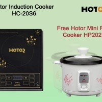 Hotor Induction Cooker HC-20S6 Free Hotor Mini Rice Cooker HP202N
