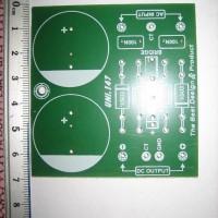 PCB Power Supply 2 elco sedang dengan Dioda Combo (Batang atau Sisir)
