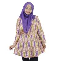 Berryblues Blouse Menyusui - BLM16 Ungu / Baju Menyusui / Hijab Dress