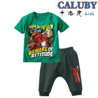 Baju Setelan Anak Caluby Avengers Iron Man (Hijau)