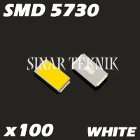 x100 Led SMD Chip 5730 6000-7000K 0.5W 3.2-3.4V Putih
