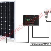 Paket Solar Panel 100WP Mono (cell tenaga surya 100w 100 w wp watt)