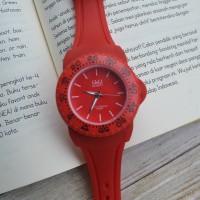 Jam Tangan QQ Karet Sport Merah