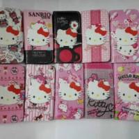 Flipcover Flipshell Kitty Samsung A3 A5 A7 E5 E7 J1 Galaxy V Core 2