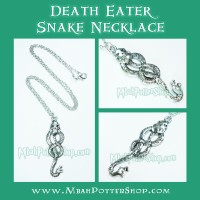 Kalung Ular Pelahap Maut Harry Potter, Death Eater Snake Necklace