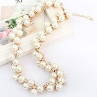Kalung Mutiara Mewah | Gold Plated Pearl Necklace