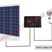 Paket Solar Panel 100WP Poly (cell tenaga surya 100w 100 w wp watt)
