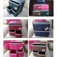 Drawner tiga laci penyimpanan kotak laci drawer storage