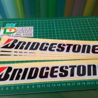 Sticker Cutting Bridgestone 25x5cm skotlite motor mobil