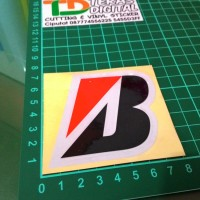 Sticker Cutting logo B Bridgestone skotlite motor mobil