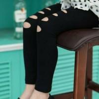 legging girl ripped hitam