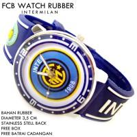 JAM TANGAN FCB BOLA CLUB FOOTBALL RUBBER INTERMILAN