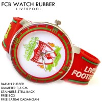 JAM TANGAN FCB BOLA CLUB FOOTBALL RUBBER LIVERPOOL
