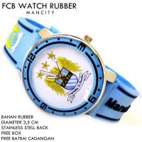 JAM TANGAN FCB BOLA CLUB FOOTBALL RUBBER MANCITY