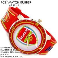 JAM TANGAN FCB BOLA CLUB FOOTBALL RUBBER ARSENAL
