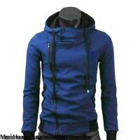 Men's Hoodies Autumn Coat Jaket Korea Blue