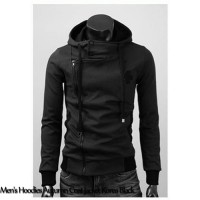 Men's Hoodies Autumn Coat Jacket Korea Black