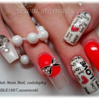 """Love Graffiti"" Water Decal Transfer Nail Art Sticker 