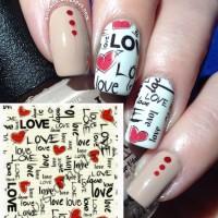 """""""Love Graffiti"""" Water Decal Transfer Nail Art Sticker   Stiker Kuku"""