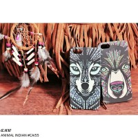 Animal Indian Case for iPhone 4/4S/5/5S/6/6+, Galaxy S5 Grand 2/Prime